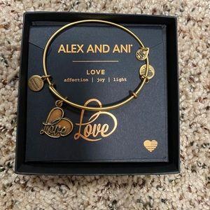 GOLD ALEX AND ANI LOVE BRACELET